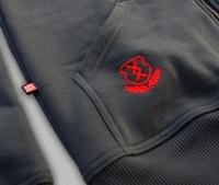 PuZ17 - HARCOS kapucnis cipzáras pulóver