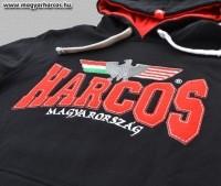 PuB09 - magyar HARCOS kapucnis belebújós pulóver