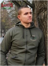 PuZ21 - HARCOS-HNB kapucnis cipzáras  pulóver