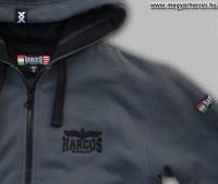 PuZ16 - HARCOS kapucnis cipzáras pulóver