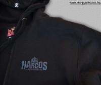PuZ19 - HARCOS kapucnis cipzáras bélelt, vastag pulóver