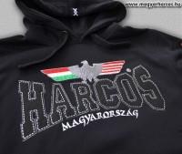 PuB10 - magyar HARCOS kapucnis belebújós pulóver